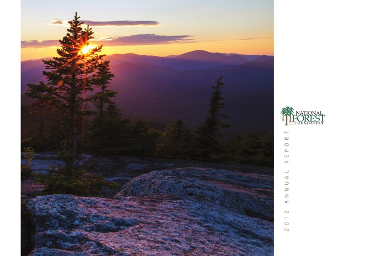 Copy of National Forest Foundation Annual Report 2012