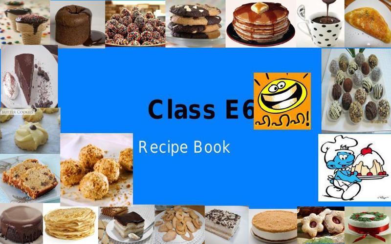 Copy (2) of My Class Recipe