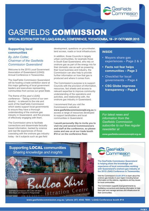 GasFields Commission - Special edition for the LGAQ Annual Confe