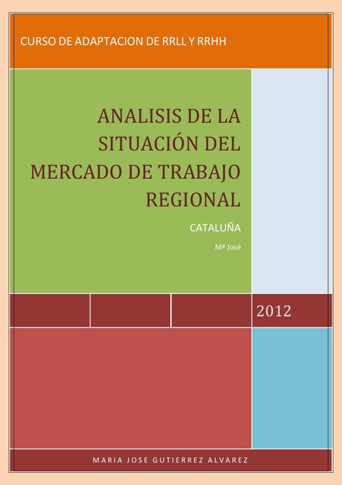 ANALISIS DE LA SITUACION DEL MERCADO DE TRABAJO REGIONAL