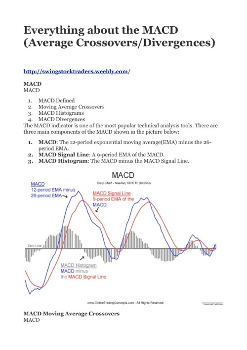 Everything about the MACD (Average Crossovers and Divergences…)