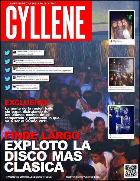 REVISTA CYLLENE DISCOTHEQUE SABADO 22-11-14
