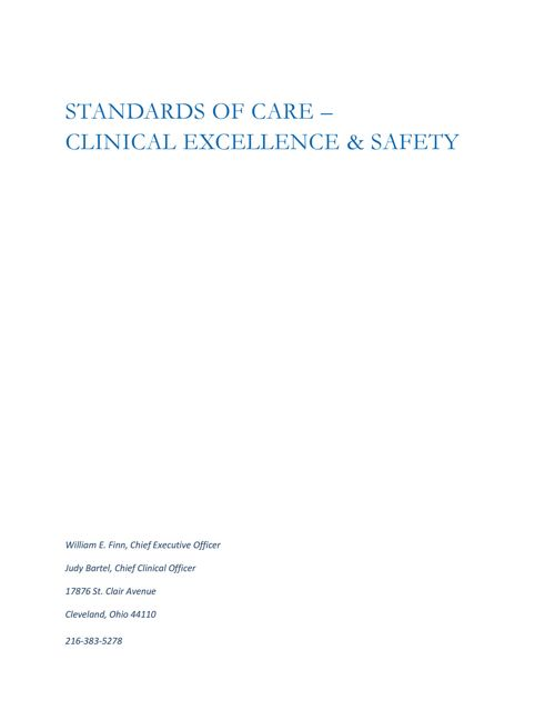 Clinical Excellence and Safety (CES)