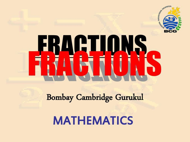 1.INTRO FRACTIONS