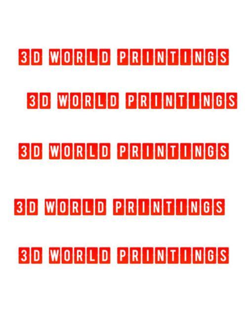 3D WORLD PRINTINGS