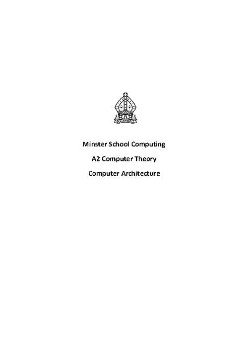 A2 Computer Architecure