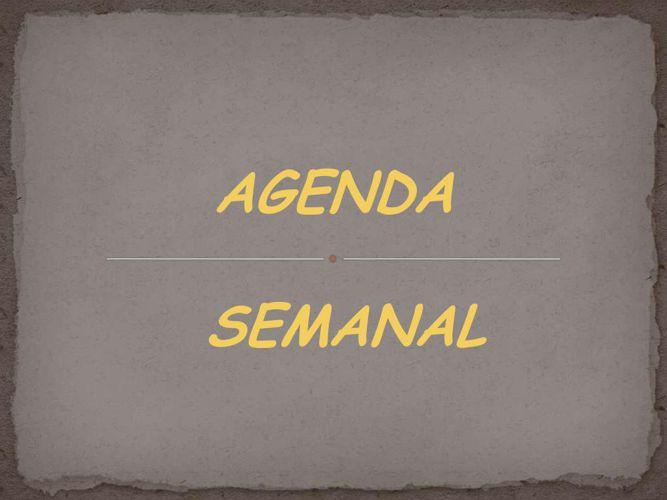 Copy of Cronograma semanal