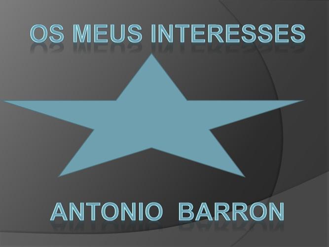 Os meus interesses - Antonio