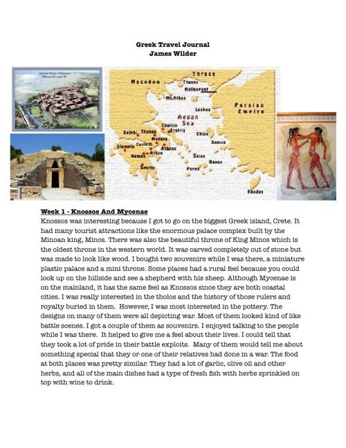 Greek Travel Journal