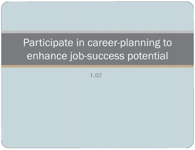 Entrepreneurship I - 1.02:  Becoming a Successful Entrepreneur