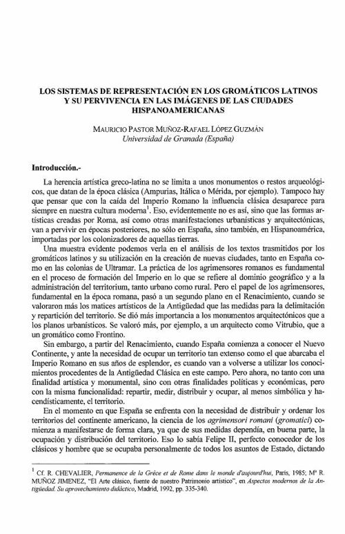 LOS GROMATICOS Y EL URBANISMO