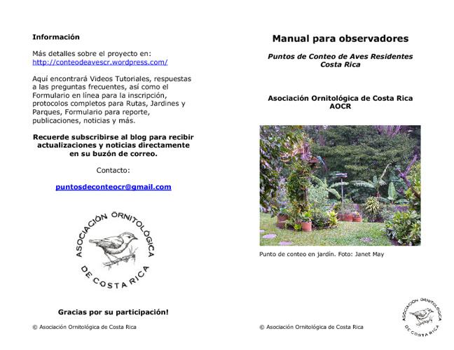 Manual para observadores (Español)