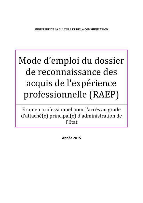 Mode+d'emploi+dossier+RAEP+ATAC+principal+2015-2