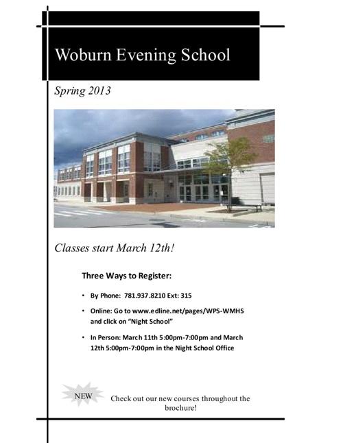 Spring 2013 Brochure