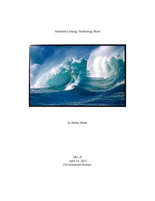 Alternative Energy Technology Book