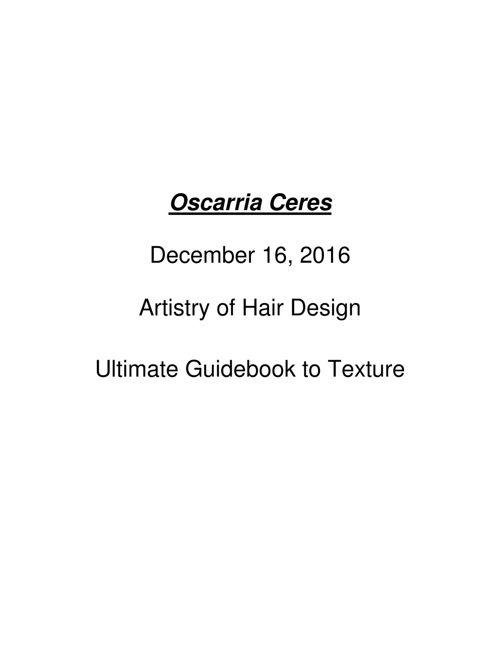 oscarria ceres miss burton artistry of hair design guidebook