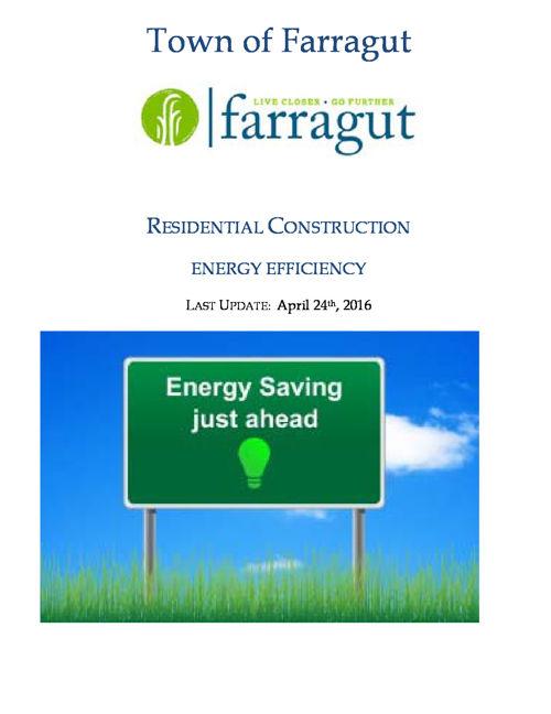 Town of Farragut - Energy Efficiency Booklet - Web Flipbook