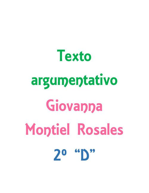 Texto argumentativo - Giovanna Montiel