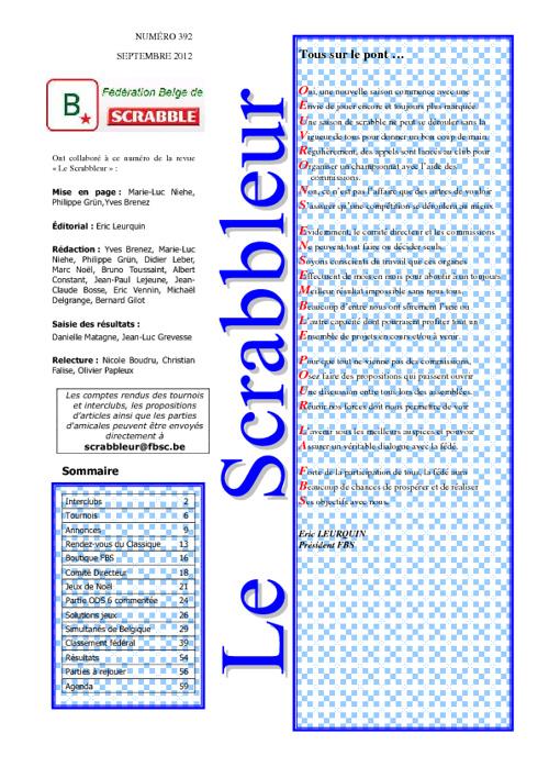 Scrabbleur Septembre 2012