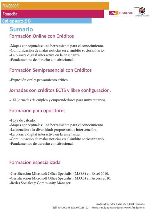 Catálogo Marzo 2013