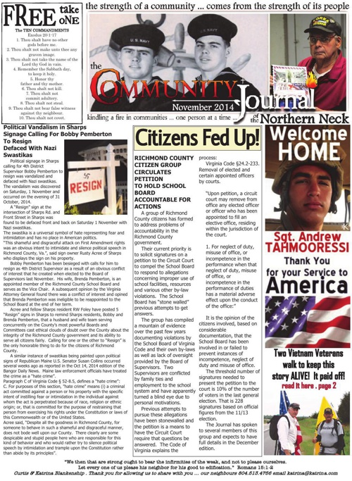 The Community Journal . November 2014 .