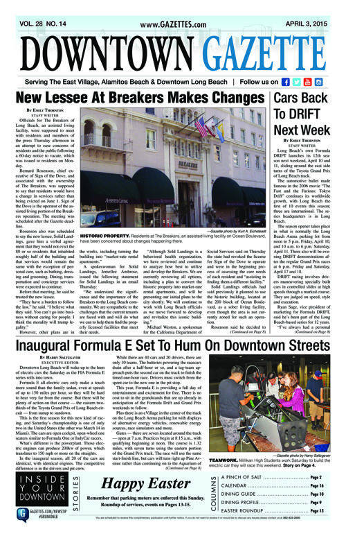 Downtown Gazette  |  April 3, 2015