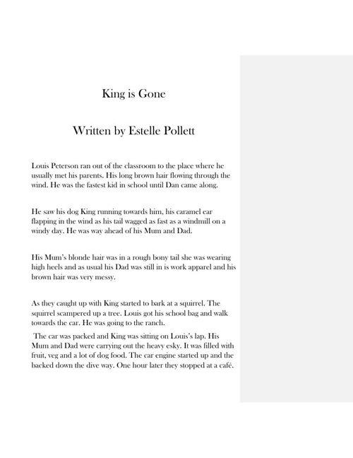 King is Gone