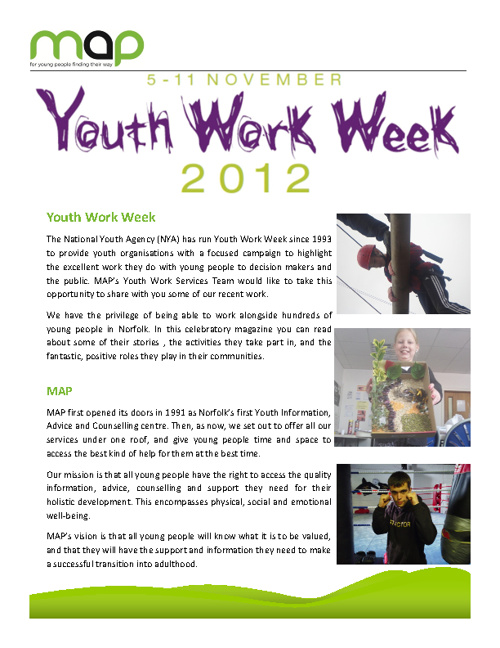MAP Youth Work Week 2012