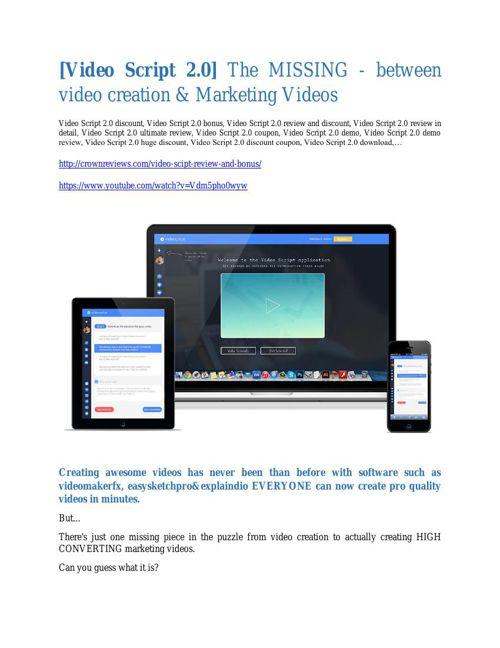 VideoScript 2.0  review & huge +100 bonus items