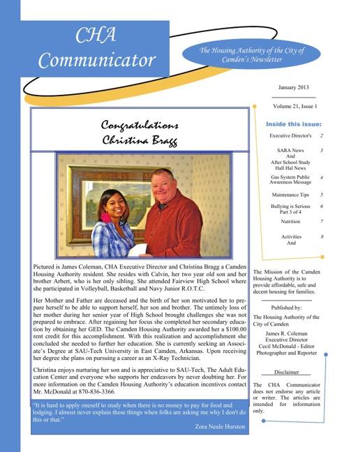 January CHA Newsletter