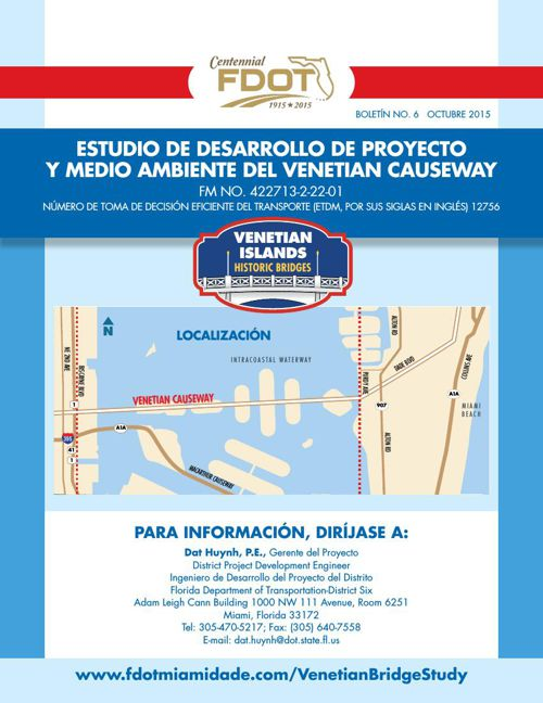 Venetian Causeway Newsletter No. 6 - Spanish