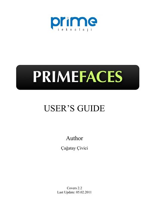 Primeface User Guide