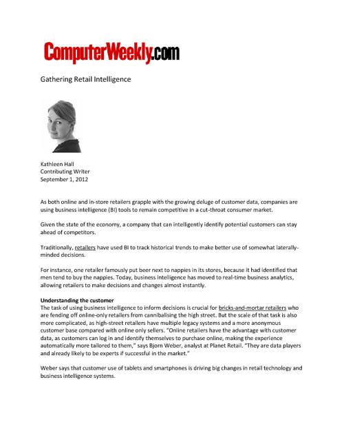 September 2012 SAP Retail Media Coverage