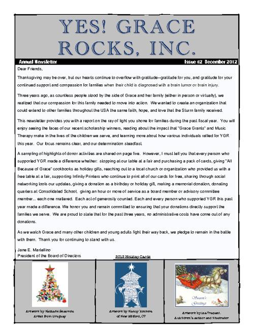 December 2012 YGR Newsletter