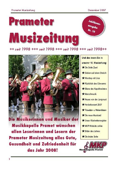 Musizeitung 2007 (Teil 1)