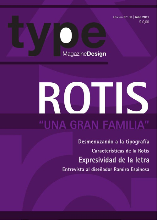 Type Magazine Design