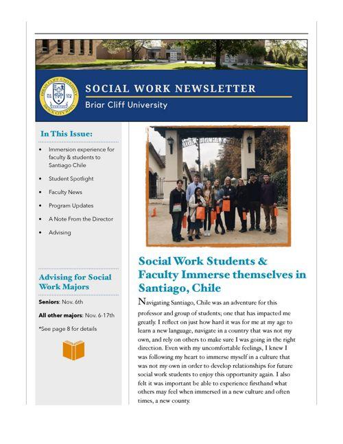 FA17 SW Dept Newsletter