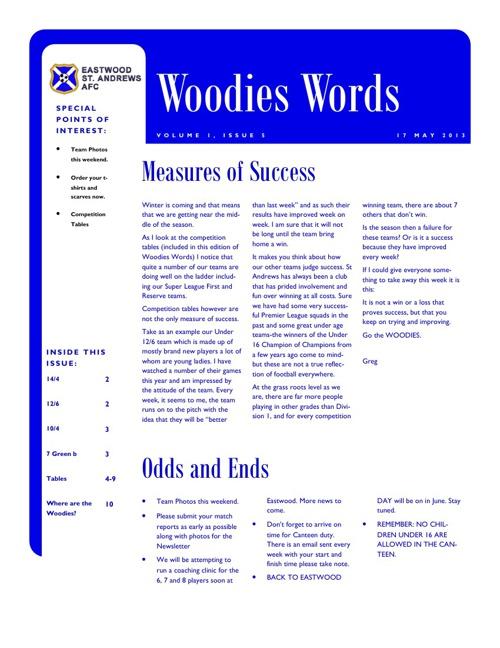 Woodies Words Week 5