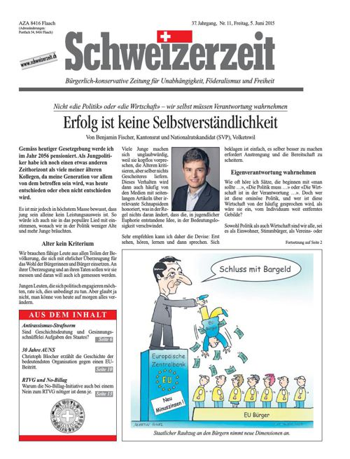 Schweizerzeit Nr. 11 vom 05.06.2015
