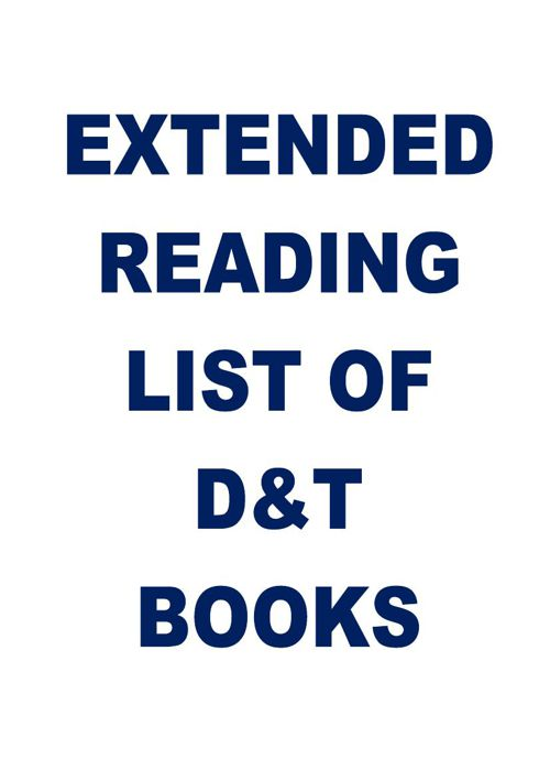 Extended reading list of D&T books