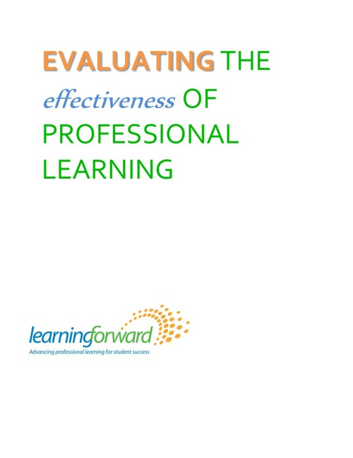 Evaluating the Effectiveness of PROFESSIONAL LEARNING