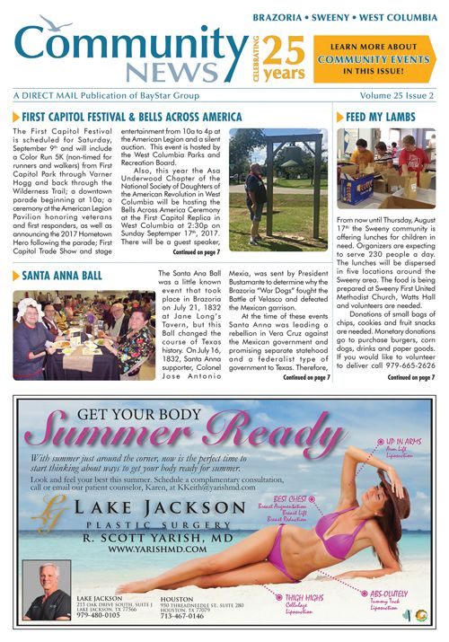 Brazoria-Sweeny-West Columbia Community News Volume 24 Issue 2