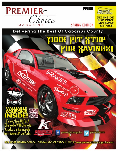 Cabarrus County Spring Edition of Premier Choice Magazine