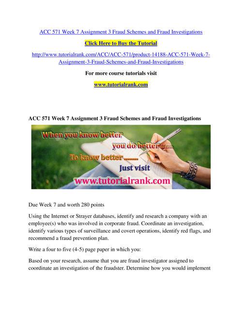 ACC 571 Course Success Begins / tutorialrank.com