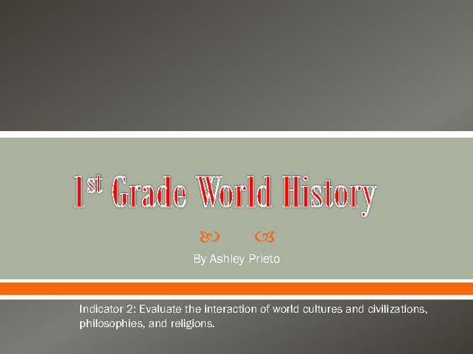 1st Grade World History