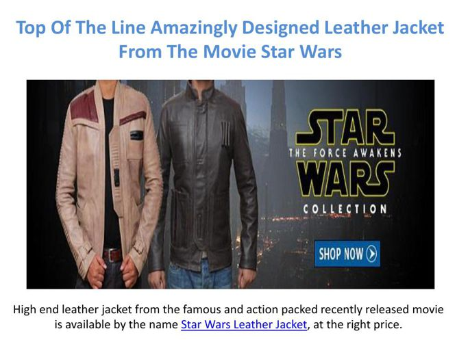 The Right Leather Jacket From The Star Wars Movie