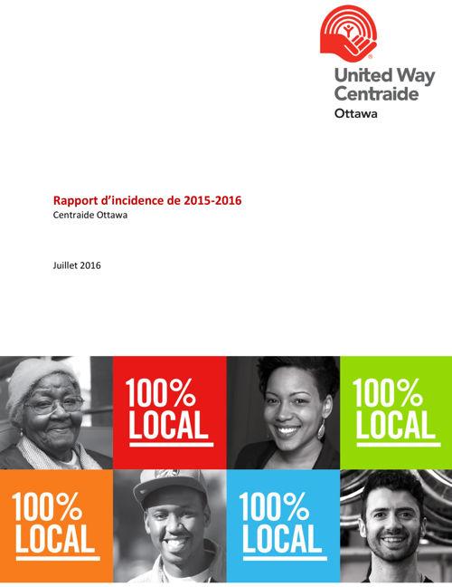 Donateurs chef de file : Rapport d'incidence de 2015-2016
