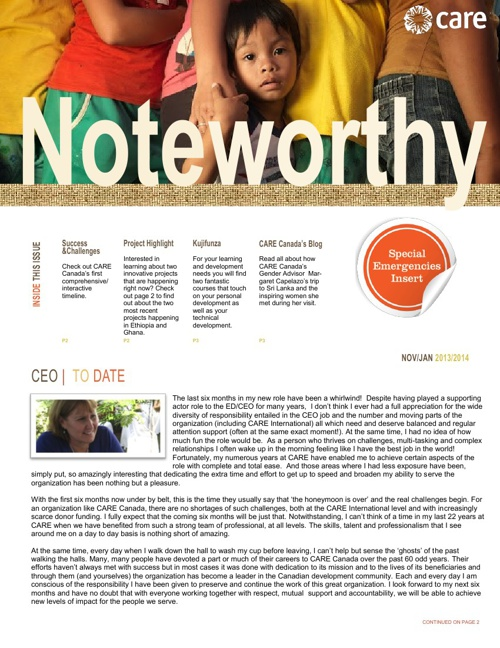 Noteworthy - Nov/Jan 2013-2014