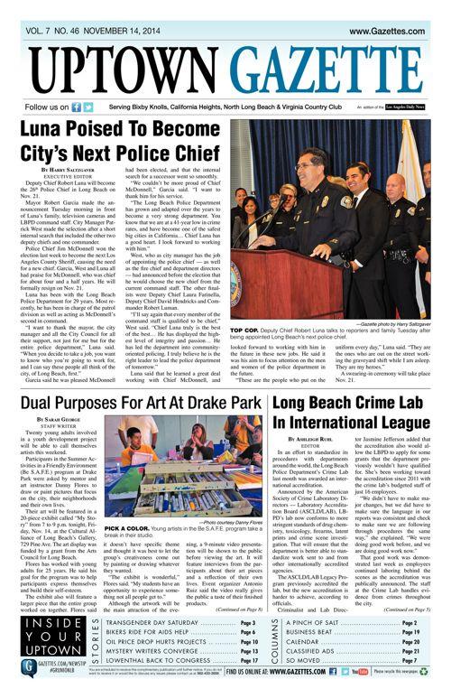 Uptown Gazette     November 14, 2014