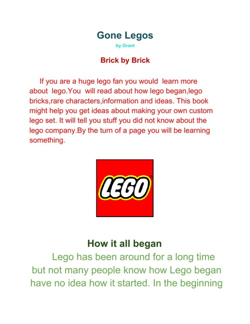 Gone Legos